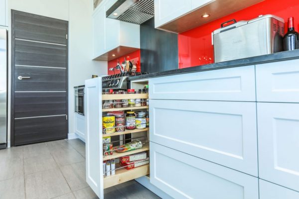 pullout kitchen spice cabinet modern