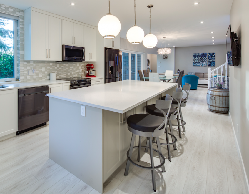 Capilano House After Kitchen Renovation with Open Concept